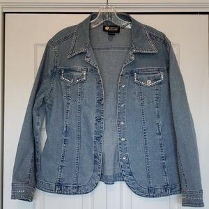 Christine Alexander denim jacket size large euc